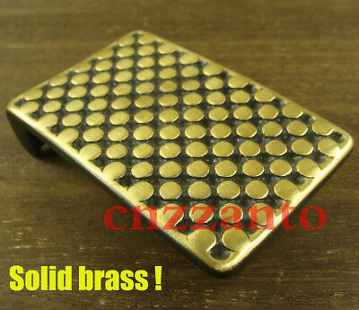 Heavy duty Solid Brass plate Belt Buckle Buckles for 1.5 inch (38mm) belt Z324