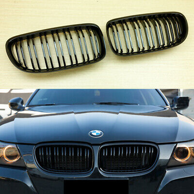 BMW E90 E91 LCI 4Dr 5Dr Piano Gloss Black Front Kidney Grille M Type 09-11