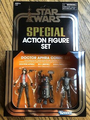 SDCC 2018 Exclusive STAR WARS Vintage Collection Hasbro Dr. Aphra Set IN HAND