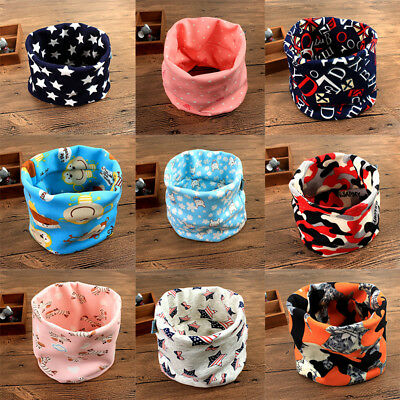 Pop Multiple Winter Boys Printing Warm Collar Scarf Cotton Neck Scarves