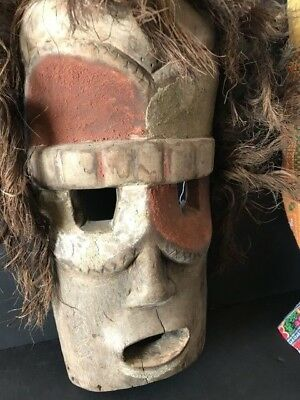 Old Batak Northern Sumatra Carved Wooden Mask, wonderful aged Patina...