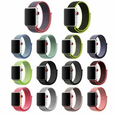 Reloj Deportivo De Nylon de Bucle Banda Correa Para Apple Watch 1 2 3 38mm/42mm