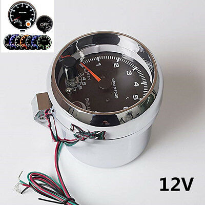 "3.75"" 7 Colors LED Car Tachometer 0-8000 RPM Works On 4, 6 And 8 Cylinder Engine"