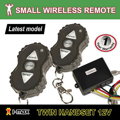Mini 12V Winch Wireless Remote Set Controller Keyring ATV 4WD 4x4 Suit Solenoid