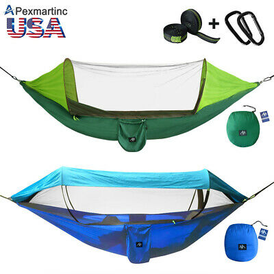 Portable Tent Camping Hammock Mosquito Net Rain Cover Waterproof