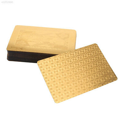 Geometric Waterproof 24K Gold Foil Poker Cards For Casino Family Party Durable