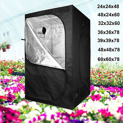 SunStream All Series of 600D Hydroponic Mylar Grow Tent Room Box + Accessories