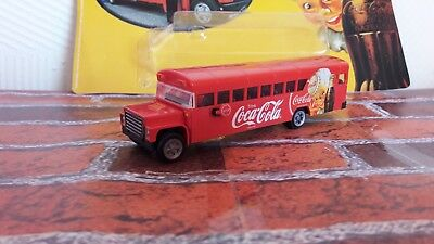 Coca Cola truck car Coke 1/87 school bus RETRO