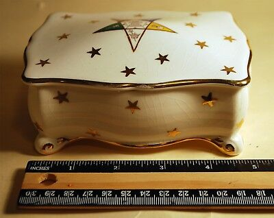 "VINTAGE ROYAL WINTON ORDER OF EASTERN STAR Card Box Made in England 3 1/2"" x 5"""