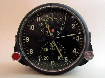 AChS-1M 2 DAYS MILITARY AIRCRAFT MIG SU Cockpit USSR vintage CLOCK CHRONOGRAPH