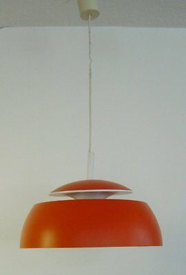 große vintage 60s/70s Temde orange Metall Ufo Lampe Space Age