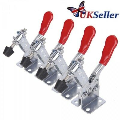 4PCS GH-201B Toggle Clamp Quick Release Hand Tool Holding Capacity 90Kg/198LbsDY
