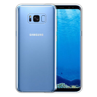 For Samsung Galaxy S8+ Plus G955 Slim TPU Clear Silicone Gel Back Case Cover