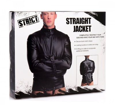 Camicia di forza Straight Jacket Strict Bondage Fetish BDSM Giacca UNISEX EROTIC