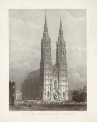 Frauenkirche in München - Entwurf - Dom - Our Lady's Church - Munich - Cathedral