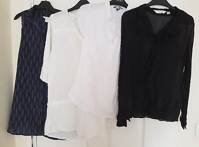 Maternity Smart tops x 4 - Size 8/10 - Next, H & M brands