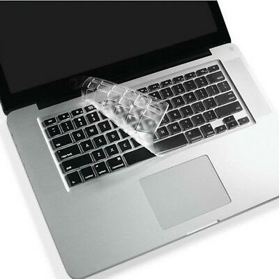 Silicone Super Thin Clear KeyBoard Cover Skin For Old MacBook Pro 13 15 17