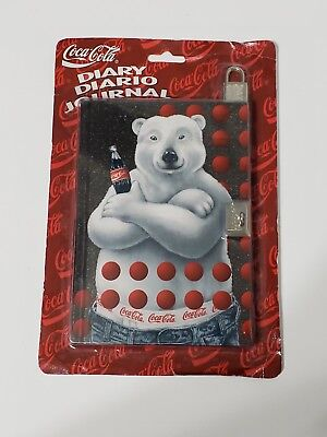 Coca-Cola Advertising Diary Journal with Lock New Polar Bear Coke 1996 145 Page