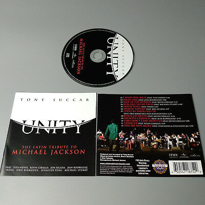 Tony Succar Unity: The Latin Tribute To Michael Jackson 2015 USA CD VG #1056