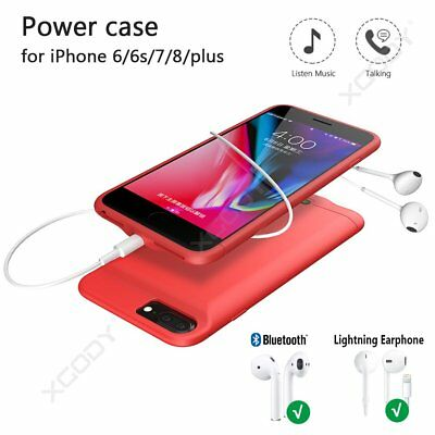 Top Soft Slim External Battery Cover Power  Backup Charger Case for iPhone 6s 6P
