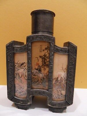 Early 1900's Chinese Tea Caddy Rare Shape