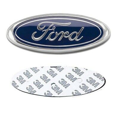 2pcs NEW FORD hood/back/trunk domed EMBLEMS blue/chrome logo badge 6 Inch