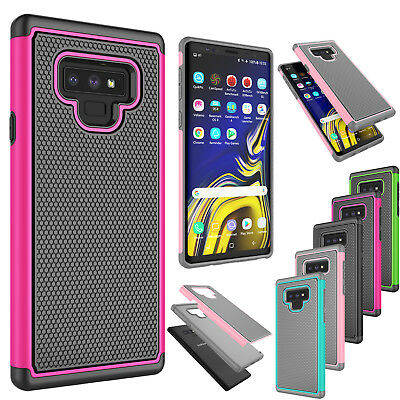 For Samsung Galaxy Note 9 Shockproof Armor Hybrid Rubber Impact Hard Case Cover