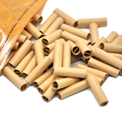 100Pcs Hornet Per Rolled Tips Natural Prerolled For Cigarette Rolling Paper 7MM