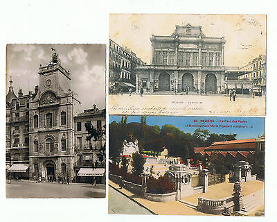 Beziers 34 Lot 6 Cpa , Hotel Ville Theatre Cathedrale Parc
