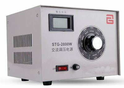 STG-2000W Single Phase AC Autotransformer Voltage Regulator 0-300V Powerstat 2KW