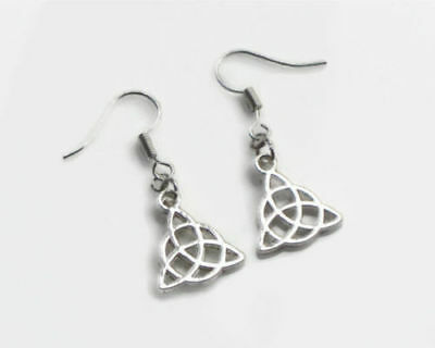 2 pair Celtic Knot earrings, silver earrings, Pagan, Wicca, boho