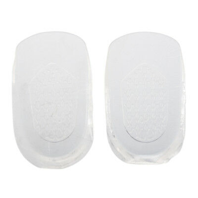 Invisible Gel 1cm up Height Taller Shoes Heel Insoles Clear Z9J6
