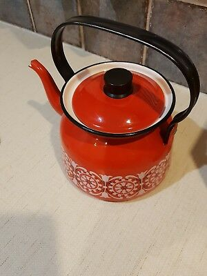 VINTAGE Kaj Franck Enamel Finel Red Teapot     PICK UP or Post
