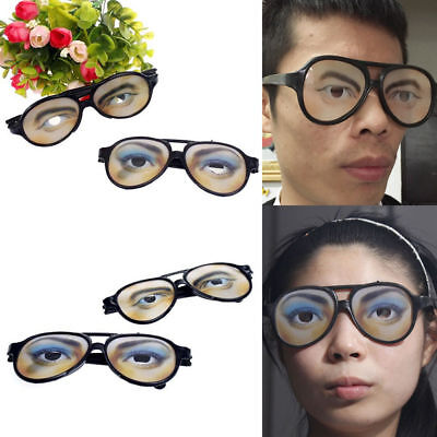 1Pc Crazy Eyes Glasses Funny Changing Shades Halloween Party Joke Tools