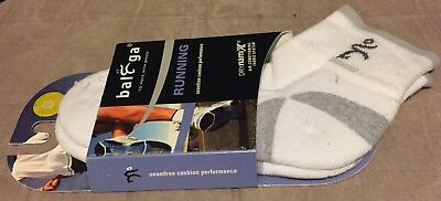 Balega White Running Ankle Socks Small