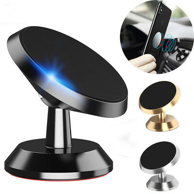 Universal 360° Magnetic Car Holder Mount Stand For Mobile Phone iPhone Samsung