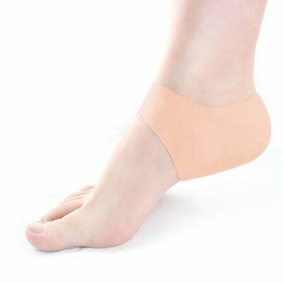 Silicone gel tacco protector-sock Cracked Foot Care sollievo dal dolore (L2d)