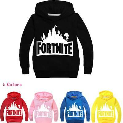 Play Fortnite T-Shirt Kids PS4 Xbox Playstation HORDE Hoodie Skull Style Acrylic