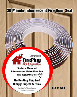 Retro Fit Surface Mounted Intumescent Strip Fire & Smoke Door Seal