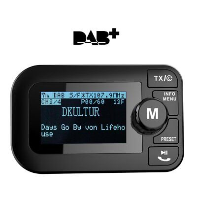 DAB/DAB + Radio FM Bluetooth Trasmettitore auto car kit con DAB Digital (X7Z)