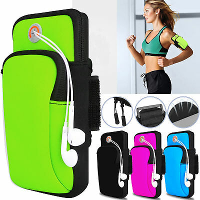 Outdoor Sports Running Jogging Arm Band Bag Phones Pouch Case For iPhone Samsung