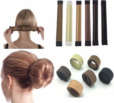 Womens Girls Magic Hair Snap Easy Bun Snap Styling French Twist Maker