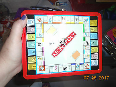 1990s Monopoly Game Tin Lunch Box