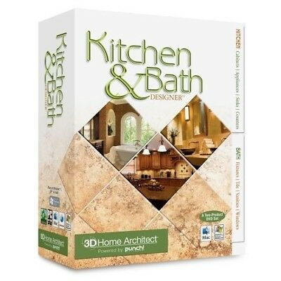 Kitchen & Bath Designer 3D Home Software - By Punch - PC and Mac New/ Sealed
