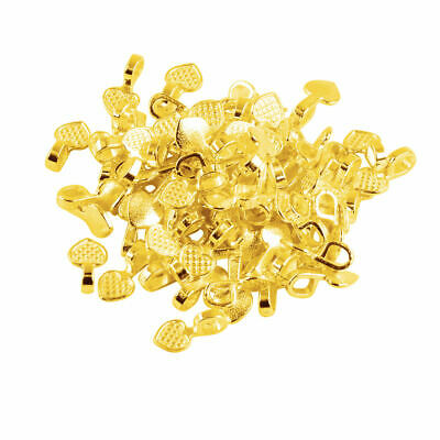 100pcs Flat Pad Glue on Heart Bails Pendant Jewelry Pendant Craft Beading