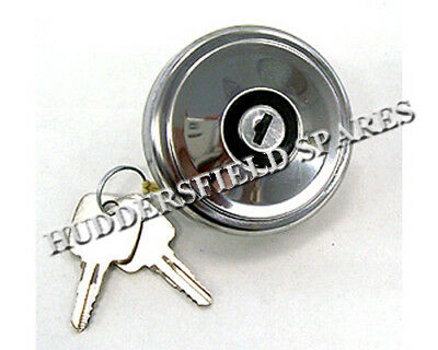 Classic Mini stainless locking petrol/fuel cap, VENTED, New with keys