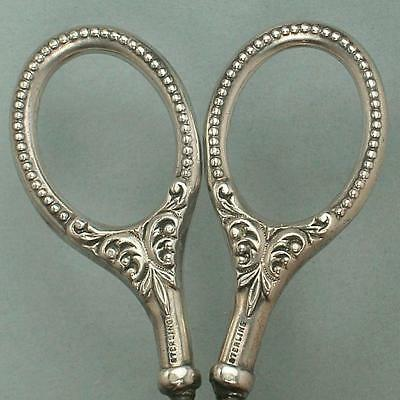 Antique American Sterling Silver Embroidery Scissors * Circa 1890s