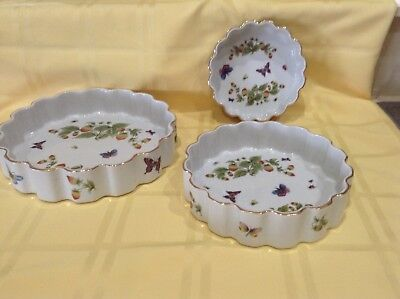 Vintage Lenwile China Cookware Ardalt Japan Oven to Table Casseroles 3 pc set