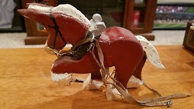 Handmade Wooden Clydesdale Horse