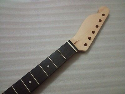 left hand Maple Guitar Neck 22 Frets Rosewood Dot Inlay For  Tele Replacement